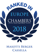 Ranked In CHAMBERS EUROPE 2018