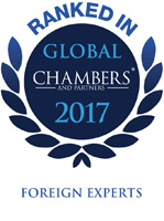 Julian Berger Ranked In CHAMBERS GLOBAL foreign experts 2017